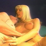 Oldschool blonde. Blonde babe grinds on his face and wanks his cock